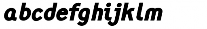 Monolith Sans Black Italic Font LOWERCASE