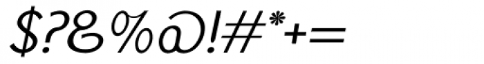 Monolith Sans Light Italic Font OTHER CHARS