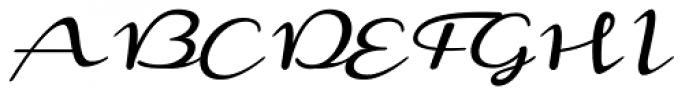 Monoment Thin Slanted Font UPPERCASE