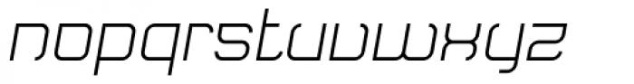 Monoron Sans Italic Font LOWERCASE