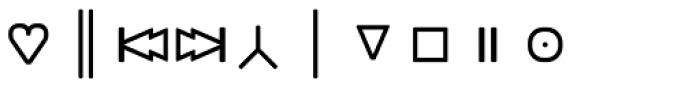 Monostep Geometrics Rounded Light Font OTHER CHARS