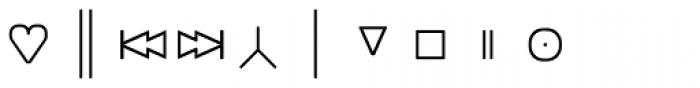 Monostep Geometrics Rounded Thin Font OTHER CHARS