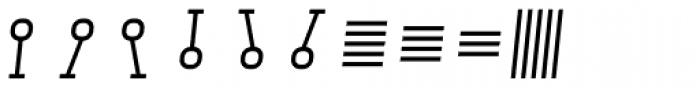 Monostep Geometrics Straight Light Italic Font OTHER CHARS