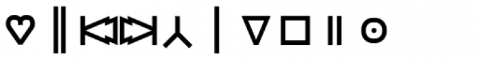Monostep Geometrics Straight Regular Font OTHER CHARS