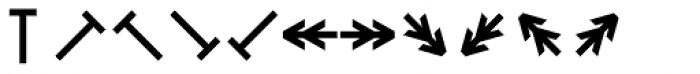 Monostep Geometrics Straight Regular Font LOWERCASE