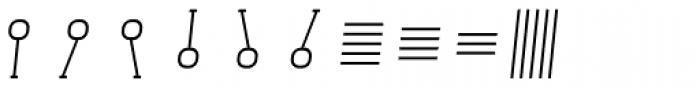 Monostep Geometrics Straight Thin Italic Font OTHER CHARS