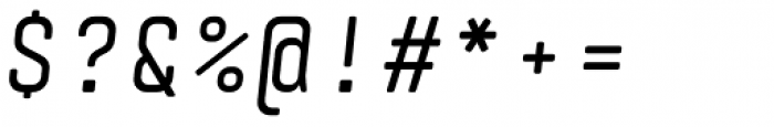 Monostep Rounded Regular Italic Font OTHER CHARS