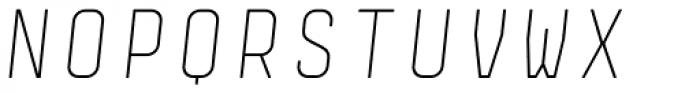 Monostep Rounded Thin Italic Font UPPERCASE