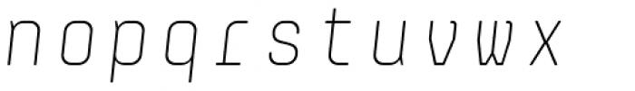 Monostep Rounded Thin Italic Font LOWERCASE