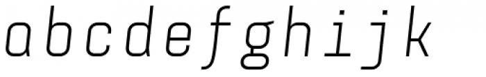 Monostep Straight Light Italic Font LOWERCASE