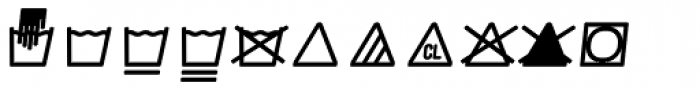 Monostep Washing Symbols Rounded Light Italic Font LOWERCASE