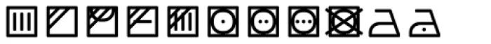 Monostep Washing Symbols Rounded Light Font UPPERCASE