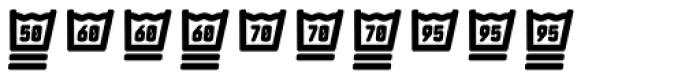 Monostep Washing Symbols Rounded Regular Italic Font OTHER CHARS