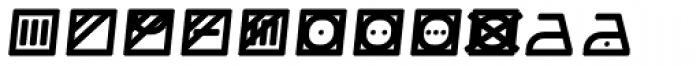 Monostep Washing Symbols Rounded Regular Italic Font UPPERCASE