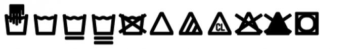 Monostep Washing Symbols Rounded Regular Font UPPERCASE