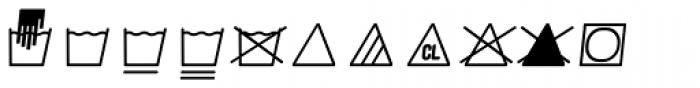 Monostep Washing Symbols Rounded Thin Italic Font UPPERCASE