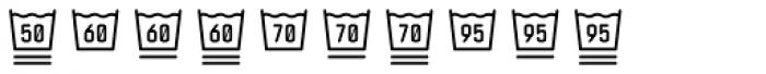 Monostep Washing Symbols Rounded Thin Font OTHER CHARS