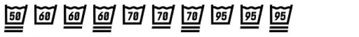 Monostep Washing Symbols Straight Light Italic Font OTHER CHARS