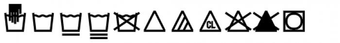 Monostep Washing Symbols Straight Light Font UPPERCASE