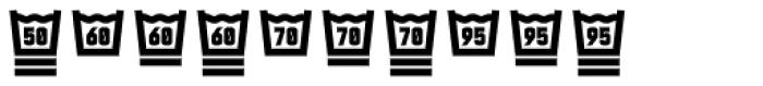 Monostep Washing Symbols Straight Regular Font OTHER CHARS