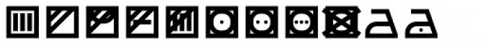 Monostep Washing Symbols Straight Regular Font UPPERCASE