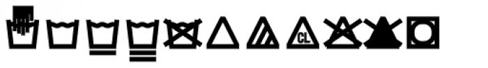 Monostep Washing Symbols Straight Regular Font LOWERCASE