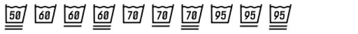 Monostep Washing Symbols Straight Thin Italic Font OTHER CHARS