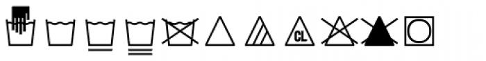 Monostep Washing Symbols Straight Thin Font UPPERCASE