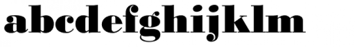 Monotype Bodoni Std Black Font LOWERCASE