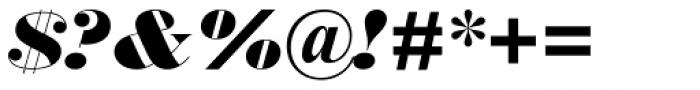 Monotype Bodoni Std UltraBold Italic Font OTHER CHARS