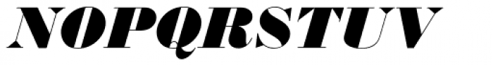 Monotype Bodoni Std UltraBold Italic Font UPPERCASE