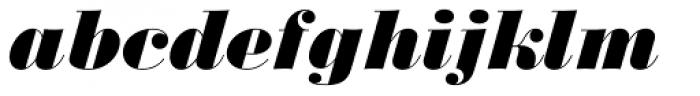 Monotype Bodoni Std UltraBold Italic Font LOWERCASE