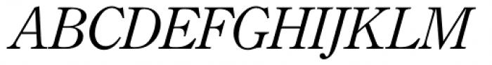 Monotype Century Old Style Std Italic Font UPPERCASE