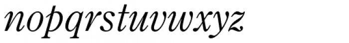 Monotype Century Old Style Std Italic Font LOWERCASE