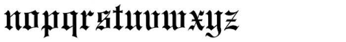 Monotype Engravers Old English Std Font LOWERCASE
