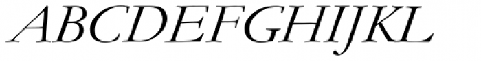 Monotype Garamond Pro Italic Font UPPERCASE