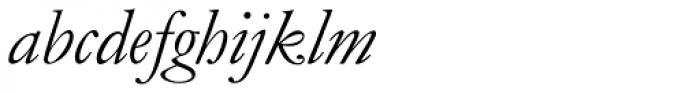 Monotype Garamond Pro Italic Font LOWERCASE