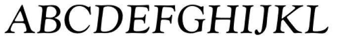 Monotype Goudy Catalogue Pro Italic Font UPPERCASE