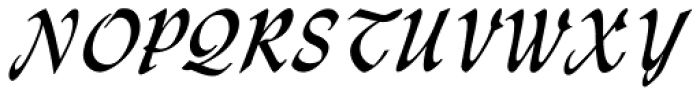 Monotype Lydian Std Cursive Font UPPERCASE