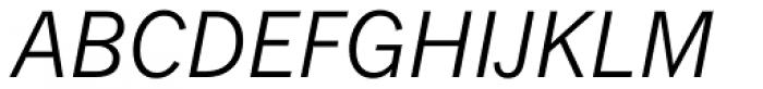 Monotype News Gothic WGL Italic Font UPPERCASE