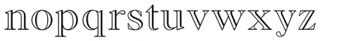 Monotype Old Style MT Std Bd Out Font LOWERCASE