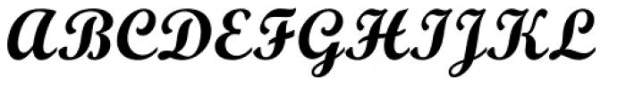 Monotype Script Pro Bold Font UPPERCASE
