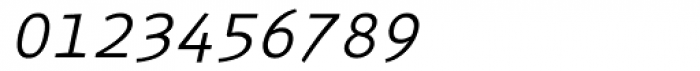 Monox Light Italic Font OTHER CHARS