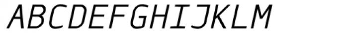 Monox Light Italic Font UPPERCASE