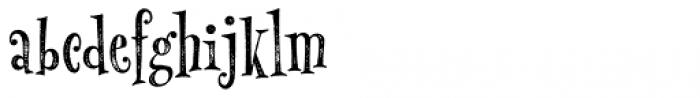 MonsterPie Rough Font LOWERCASE