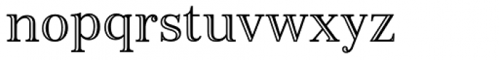 Monstice Engraved Font LOWERCASE
