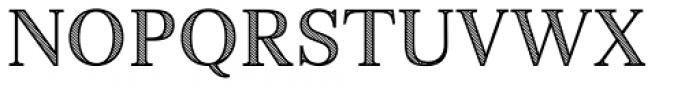 Monstice Hatched Font UPPERCASE