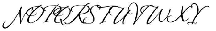 Montague Script Bold Font UPPERCASE