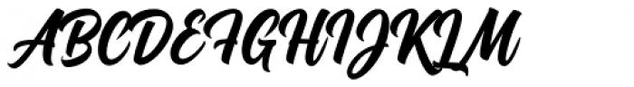 Montana Typeface Font UPPERCASE