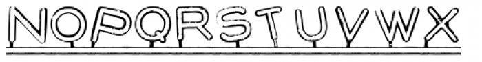 Montaplex Outline Font UPPERCASE
